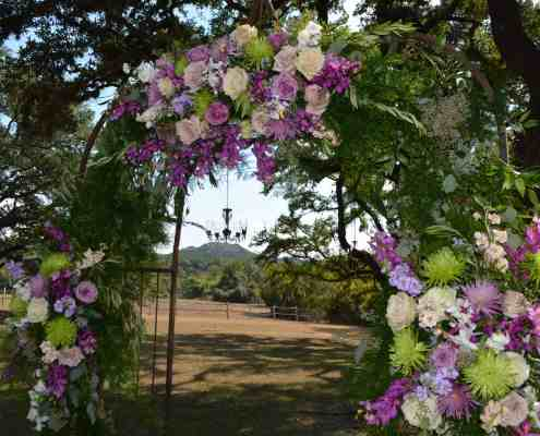 Wedding Arch in the Oak Grove