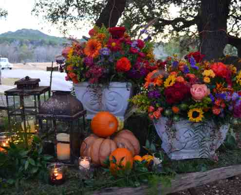 Fall Wedding Floral on Center Wagon