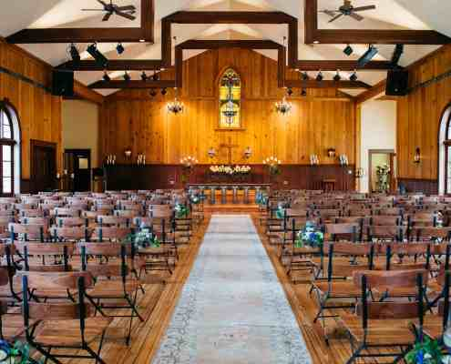 Vintage Chapel Indoor Ceremony