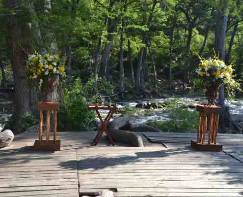 Wedding Deck Ceremony on Blanco River