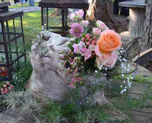 Outdoor Floral Wedding Decor