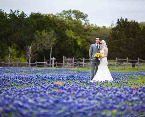 Spring Wedding With Blubonnets