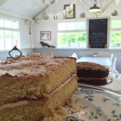 Cake and the tea room