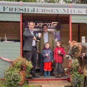 Fresh jersey milk