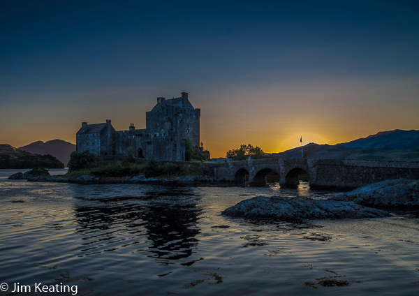 Eilean Donan Castle at Sunset