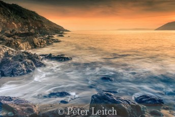 Very Highly Commended_Peter Leitch_Waves over Manobier Bay rocks
