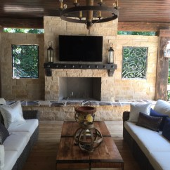 Outdoor Kitchen With Fireplace Vegas Hotels Atlanta Fireplaces Kitchens Old Hat