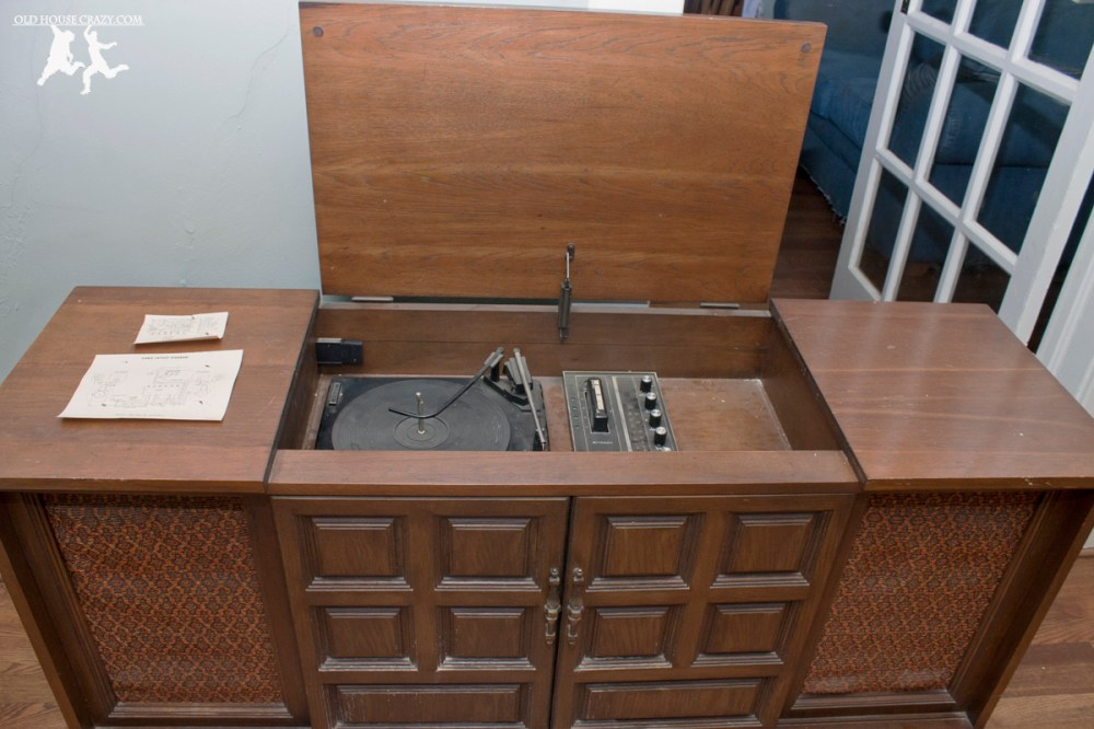 medium resolution of old house crazy diy restore an old stereo console 02