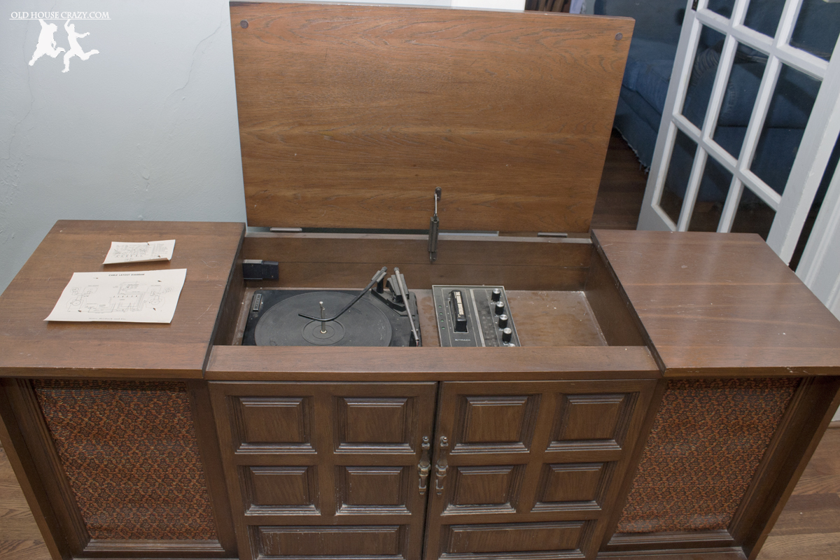 hight resolution of old house crazy diy restore an old stereo console 02
