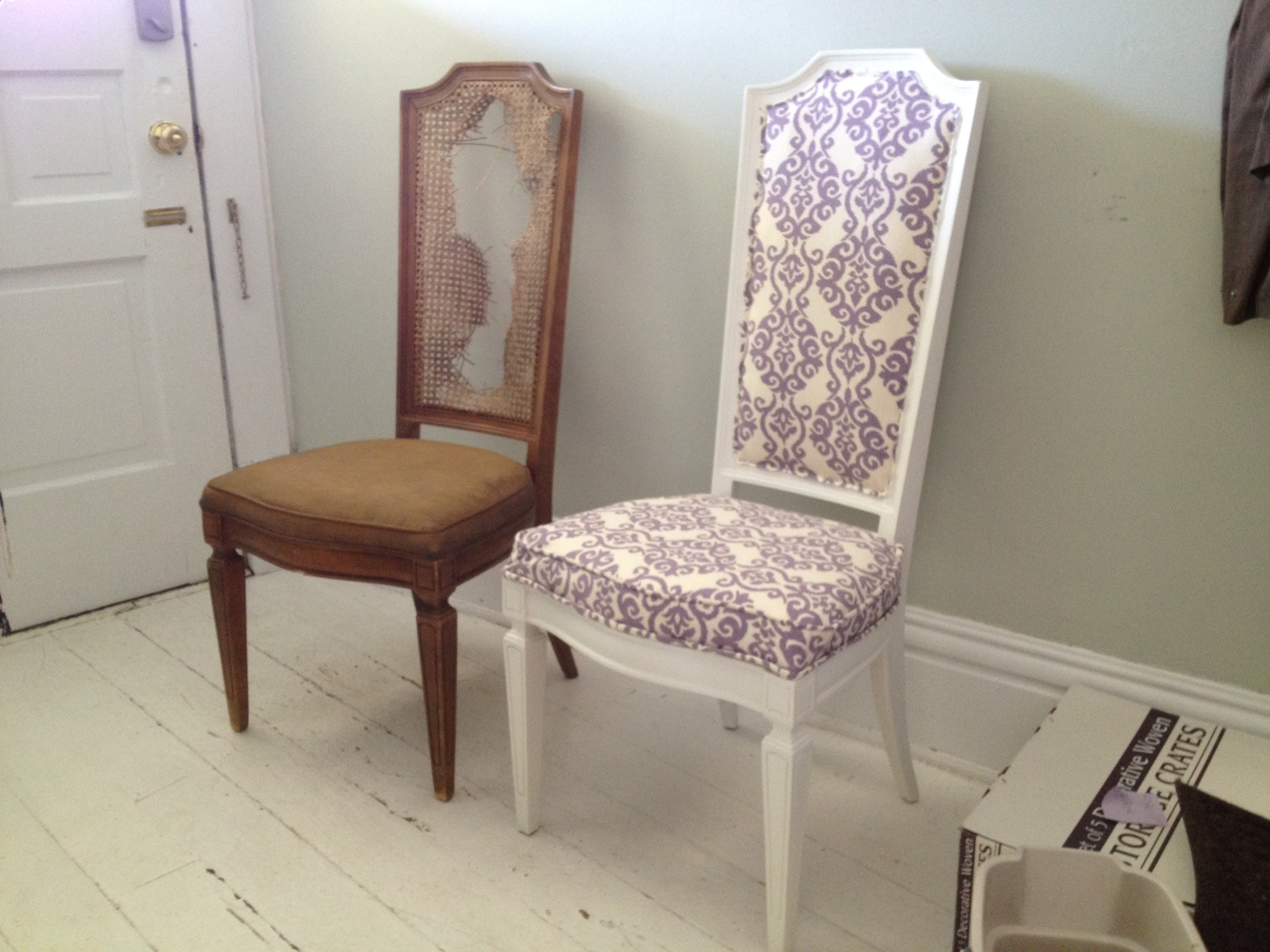 One Womans Trash is Another Womans Treasure Upholstering Dining Chairs  oldhouseromance