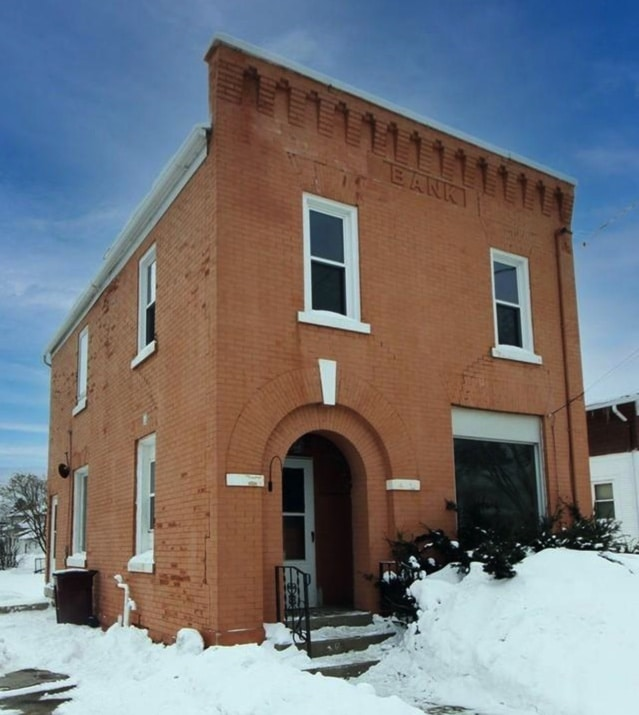 c.1900 Brick Duplex – Former Bank For Sale in Brownsville WI Under $100K