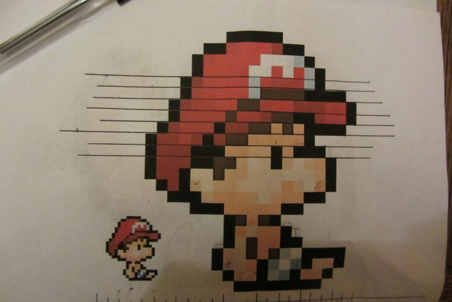 Pixel Art Ralisation Dune Mosaque Yoshi