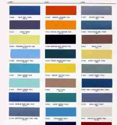 1962 1963 color chart [ 1514 x 2048 Pixel ]
