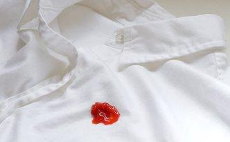 Как отстирать пятна от кетчупа