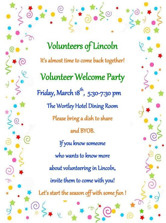 Volunteer Welcome Party