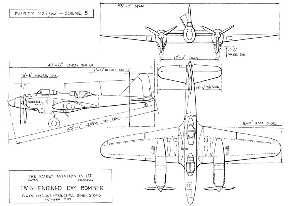 medium resolution of fac s proposal to specification p27 32 included two twin engine aircraft powered by p 12 prince engines the air ministry wanted a single engine aircraft