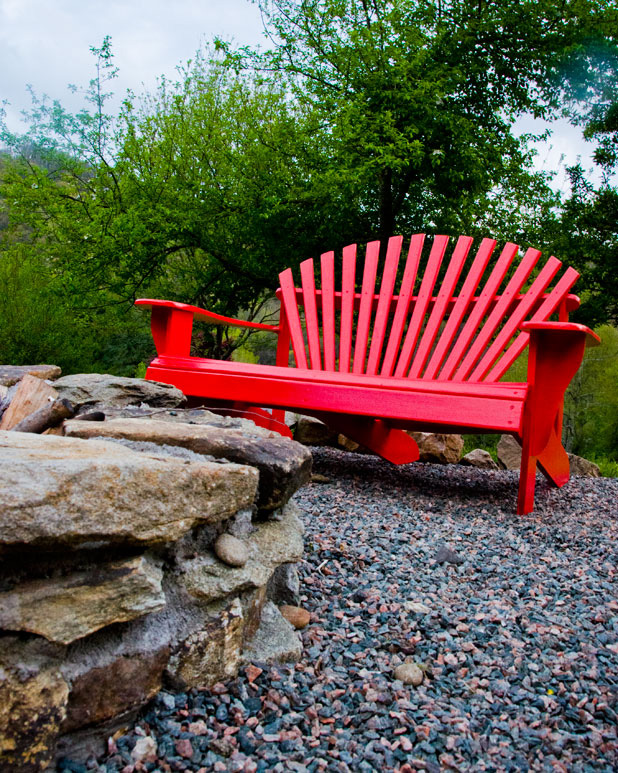 red adirondack chairs chair with desk attached uk before after old made new settee