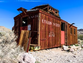 Old Union Pacific Rail Car, Ghost Town, Death Valley