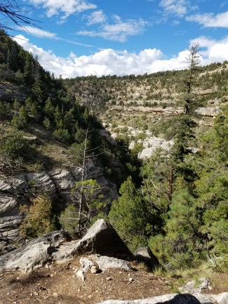 Hiking in Arizona Walnut Canyon, Flagstaff.