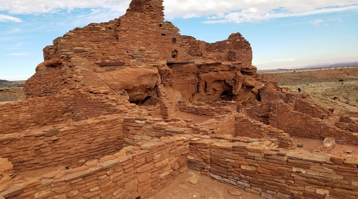 Hiking Wupatki Ruins in Flagstaff, Arizona