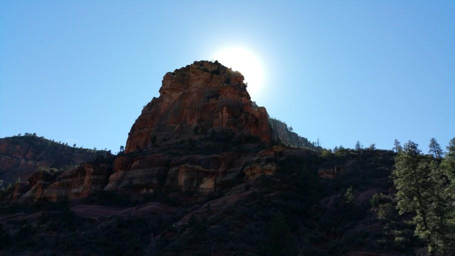 Hiking Slide Rock. Sedona, Arizona.