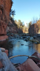 Slide Rock. Hiking Sedona, Arizona.
