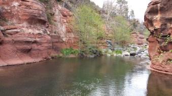 Slide Rock. Hiking Sedona, Arizona.