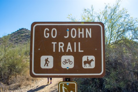 Go John Trail Cave Creek Regional Park Hiking Arizona Rusty Ward