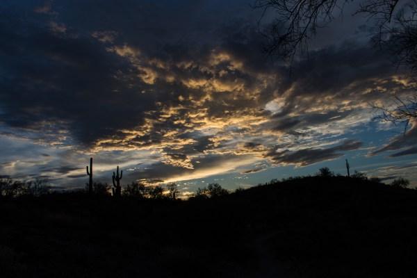 hiking Arizona Sunrise Rusty Ward
