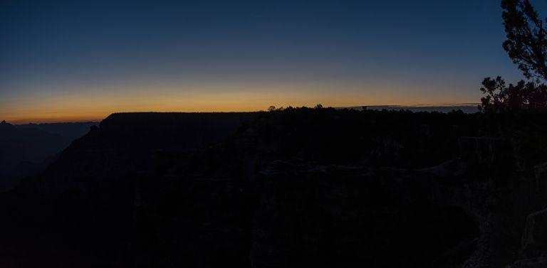 Grand Canyon Pre-Sunrise Rusty Ward Hiking Arizona