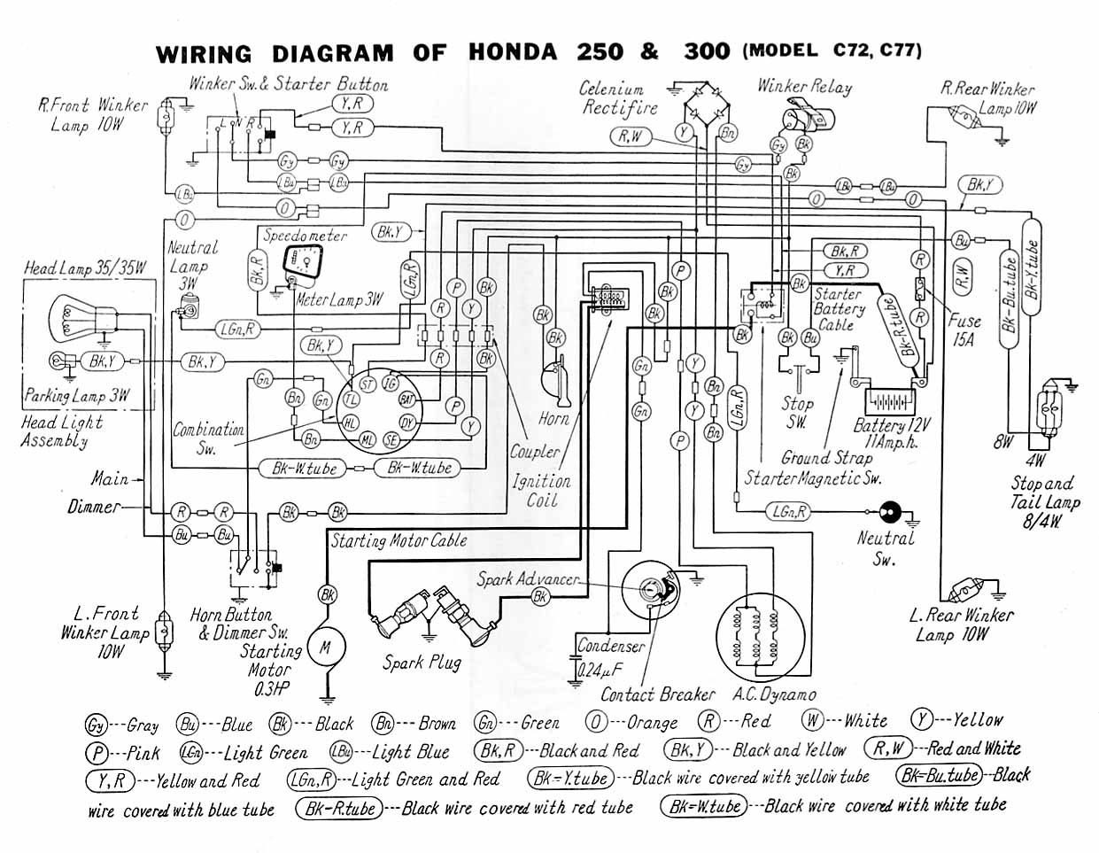 honda xrm rs 125 electrical wiring diagram 2001 accord of tmx 155 contact point | library