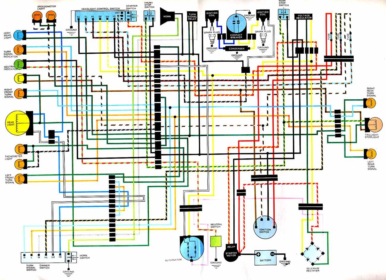1976 honda cb750 wiring diagram tennis court with measurements cb360