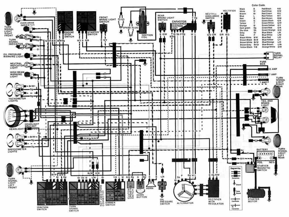 medium resolution of 1982 honda cb450sc wiring diagram 33 wiring diagram 1981 honda nighthawk 650 honda cb700 nighthawk
