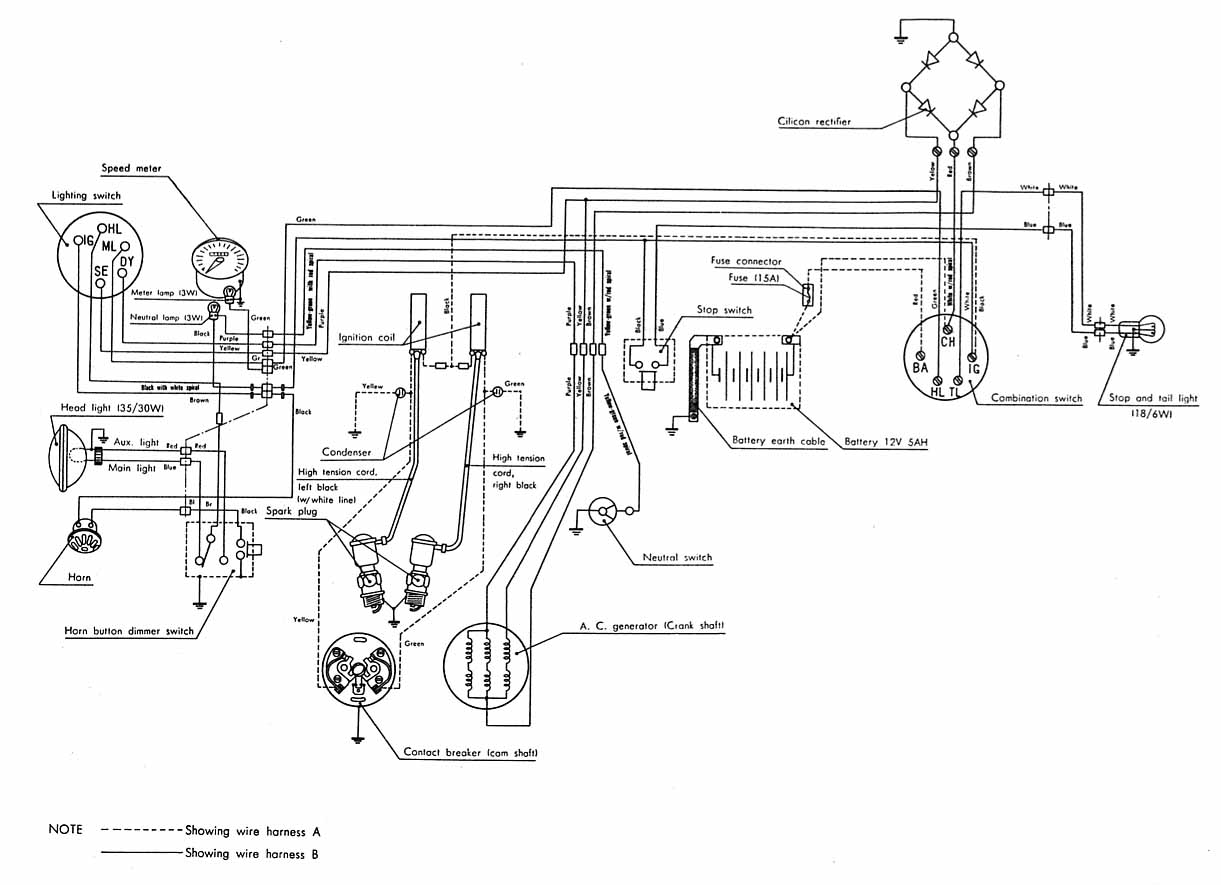 hight resolution of honda cl77 wiring diagram
