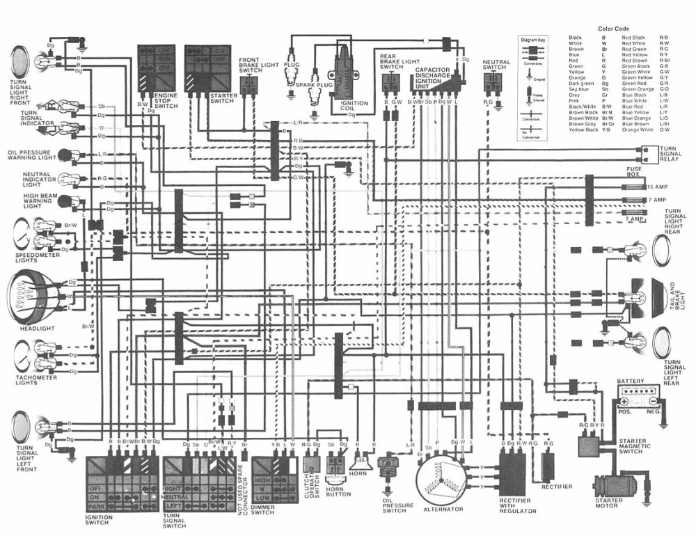 medium resolution of honda cm400 wiring diagram wiring diagram mega 1980 cm400 wiring diagram not regulator rectifier