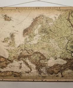 europa flus gebirgs karte