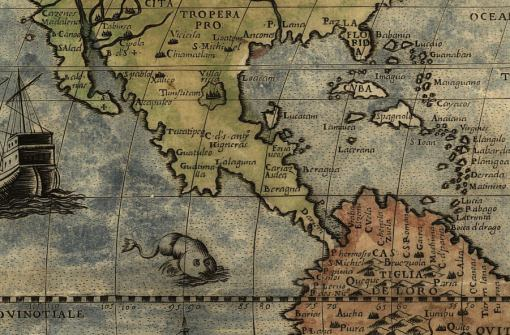 Central America Cuba map really old