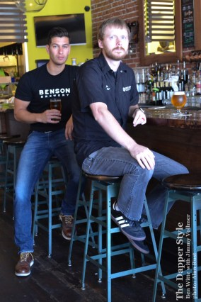 ben witte and jimmy vollmer at benson brewery