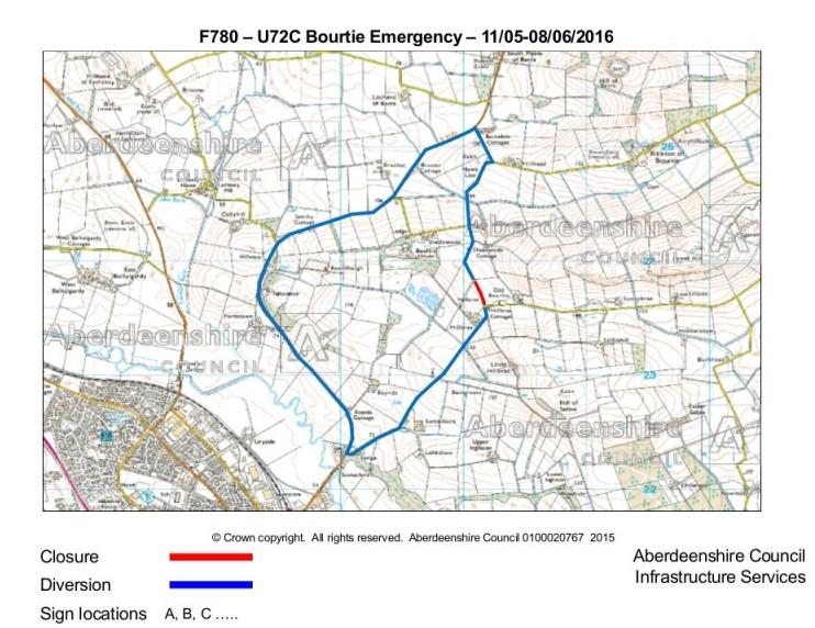 F780 - U72C Bourtie Map