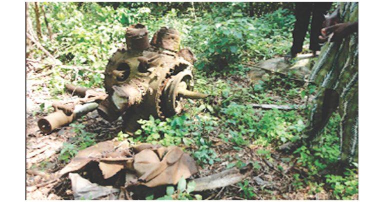 Site of first plane crash in Nigeria