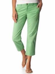 Women's tall green clothing Perfect Khaki Capris