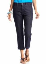 women's tall denim capris