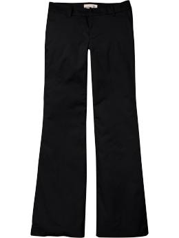 Women: Women's Lightweight Twill Wide-Leg Trousers - Black Jack