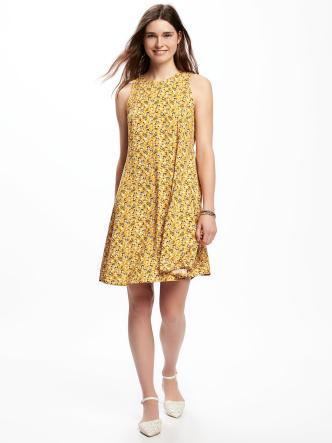 Image result for old navy swing floral dress yellow