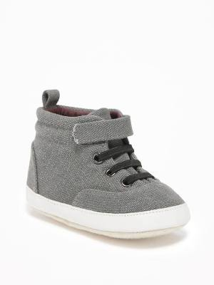 Old Navy Canvas High Tops For Baby Size 6-12 M - Gray