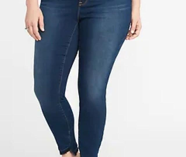 High Rise Built In Warm Rockstar Super Skinny Plus Size Jeans