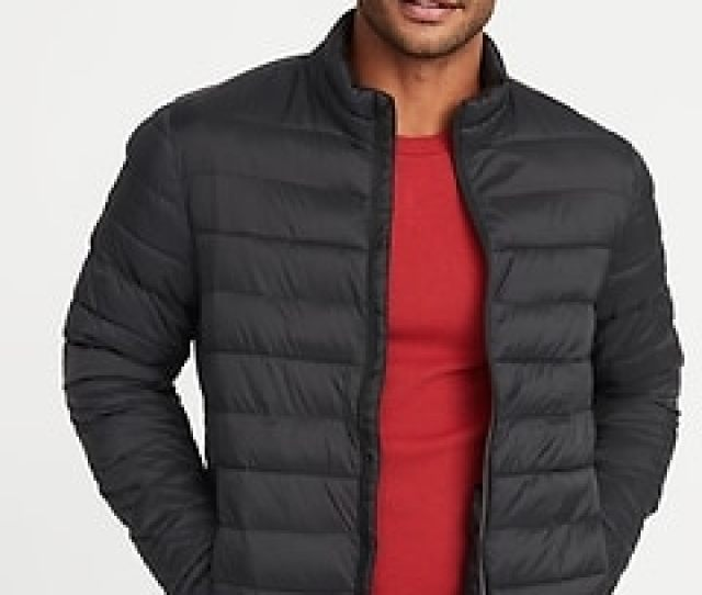 Water Resistant Packable Quilted Jacket For Men