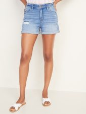 High-Waisted Boyfriend Jean Shorts for Women - 3-inch inseam