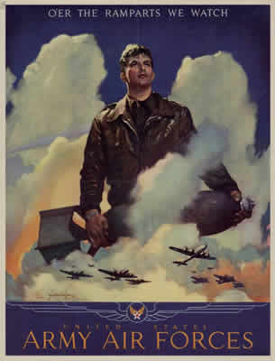 WW II Air Force poster