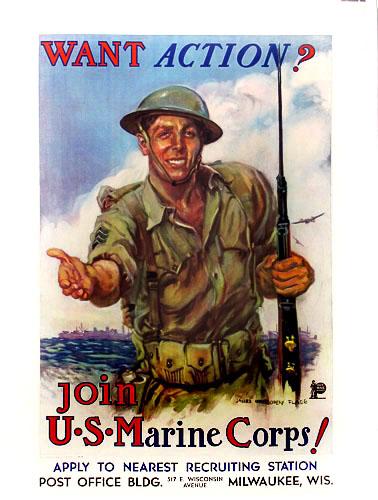 WWII Marine poster JM Flagg